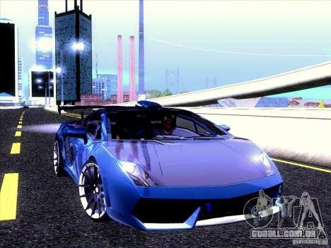 Lamborghini Gallardo Racing Street para GTA San Andreas vista interior