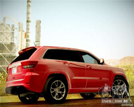 Jeep Grand Cherokee SRT-8 2012 para GTA San Andreas vista traseira