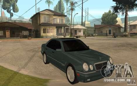 Mercedes-Benz E420 W210 1997 para GTA San Andreas vista traseira