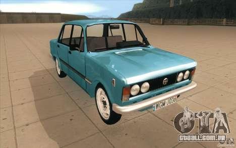 Fiat 125p para GTA San Andreas vista traseira