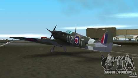 Spitfire Mk IX para GTA Vice City vista traseira