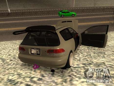 Honda Civic EG6 JDM para GTA San Andreas traseira esquerda vista