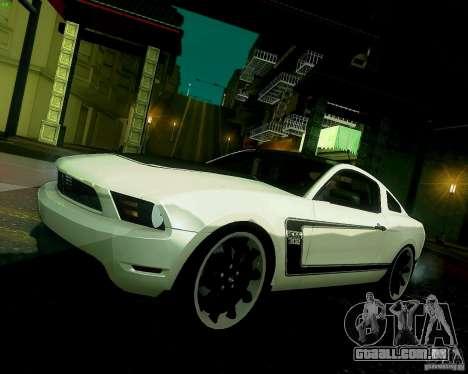 Ford Mustang Boss 302 2011 para GTA San Andreas vista interior