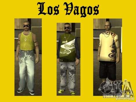 Peles de gangue de Vagos para GTA San Andreas