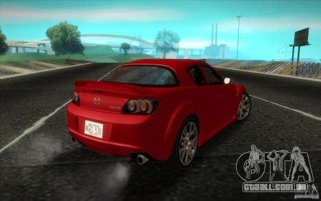 Mazda RX-8 R3 2011 para GTA San Andreas esquerda vista