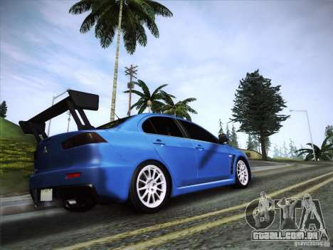 Mitsubishi Lancer Evolution Drift Edition para GTA San Andreas esquerda vista