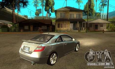 Honda Civic Si - Stock para GTA San Andreas vista direita