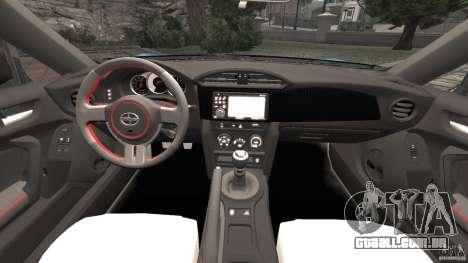 Scion FR-S para GTA 4 vista de volta