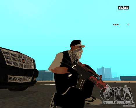 Weapon Pack para GTA San Andreas por diante tela