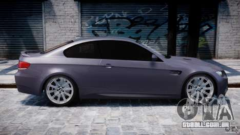 BMW M3 E92 stock para GTA 4 interior