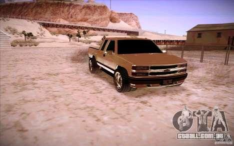 Chevrolet Silverado 3500 para GTA San Andreas esquerda vista