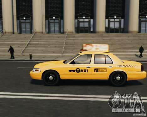 Ford Crown Victoria NYC Taxi 2012 para GTA 4 esquerda vista
