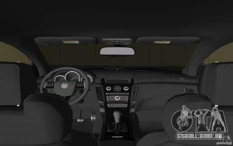 Cadillac CTS-V Coupe para GTA Vice City vista lateral