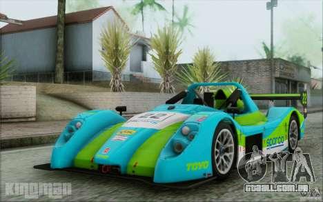 Radical SR3 RS 2009 para vista lateral GTA San Andreas