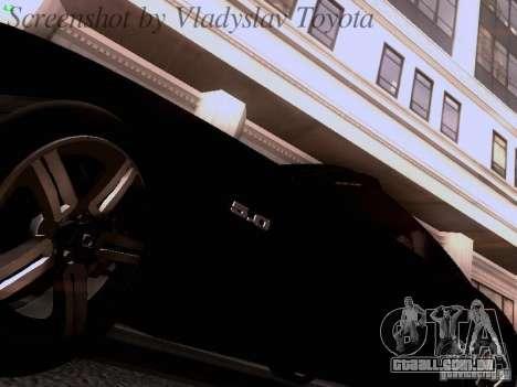Ford Mustang GT 2011 Unmarked para GTA San Andreas vista interior