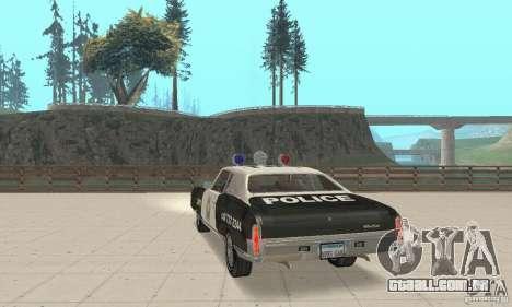 Chevrolet Monte Carlo 1970 Police para GTA San Andreas esquerda vista