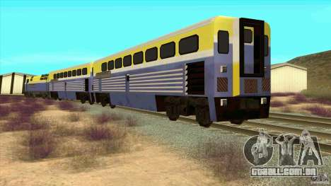 Latvian Train para GTA San Andreas traseira esquerda vista