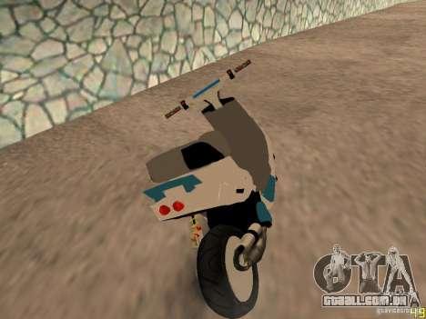 MBK Booster para GTA San Andreas esquerda vista