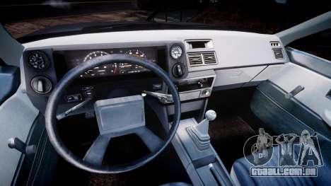 Toyota Sprinter Trueno 1986 para GTA 4 vista de volta