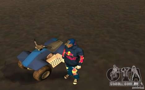 Red Bull Clothes v1.0 para GTA San Andreas segunda tela
