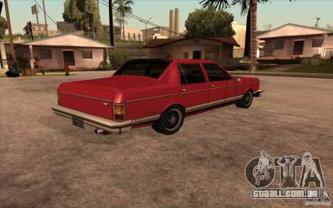 Regal 1987 San Andreas Stories para GTA San Andreas esquerda vista
