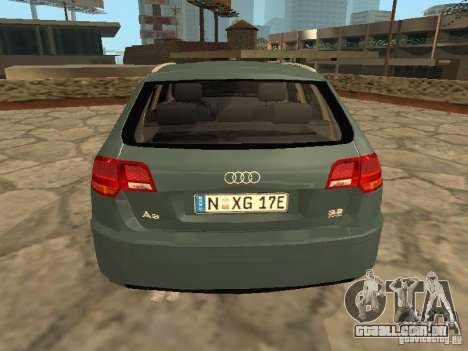 Audi S3 Sportback 2007 para GTA San Andreas vista direita