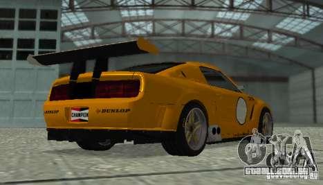 Ford Mustang GT-R para GTA San Andreas traseira esquerda vista