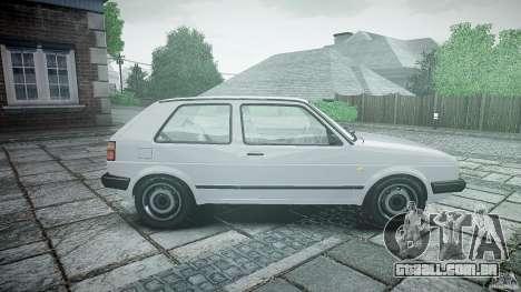 Volkswagen GOLF MK2 GTI para GTA 4 esquerda vista
