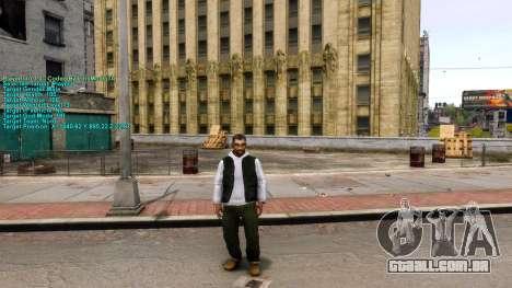 Informações sobre o jogador para GTA 4 segundo screenshot