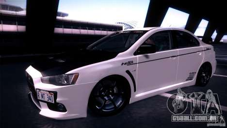 Mitsubishi Lancer Evolution X Tunable para GTA San Andreas vista direita