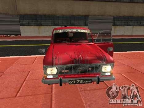 Moskvich 434 para GTA San Andreas vista interior