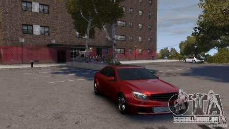 Mercedes-Benz C-Class Brabus para GTA 4 traseira esquerda vista