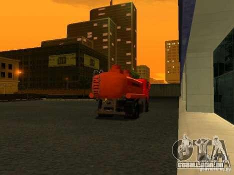 MAZ caminhão para GTA San Andreas traseira esquerda vista