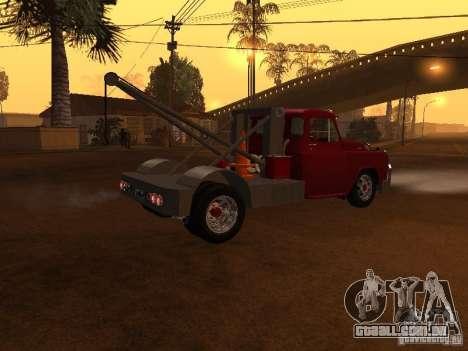 Dodge Towtruck para GTA San Andreas traseira esquerda vista