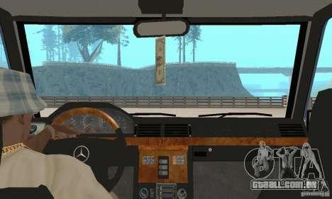 Mercedes-Benz G500 1999 v 1.1 não kengurâtnika para GTA San Andreas vista interior