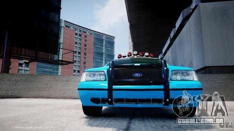 Ford Crown Victoria Classic Blue NYPD Scheme para GTA 4 vista inferior