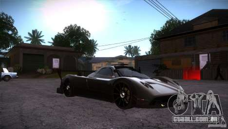 Pagani Zonda R para GTA San Andreas vista traseira