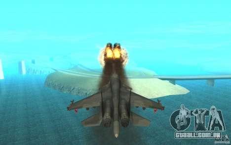 O Su-34 para GTA San Andreas vista interior