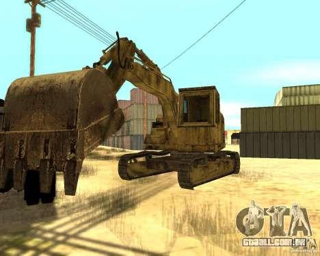 Máquina escavadora para GTA San Andreas traseira esquerda vista