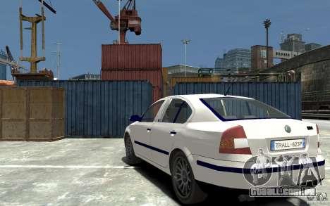 Skoda Octavia II 2005 para GTA 4 traseira esquerda vista