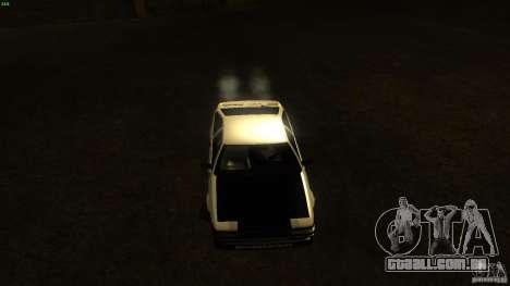 Toyota AE86 Trueno Touge Drift para GTA San Andreas vista traseira