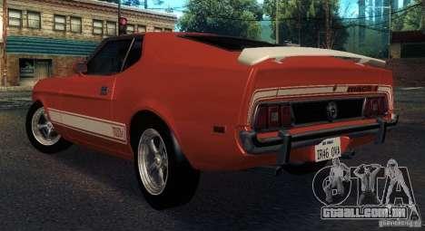 Ford Mustang Mach1 1973 para GTA San Andreas vista direita