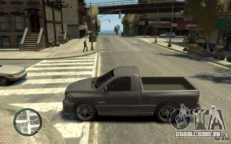 Dodge Ram SRT10 para GTA 4 esquerda vista