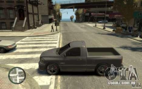 Dodge Ram SRT10 para GTA 4 esquerda vista