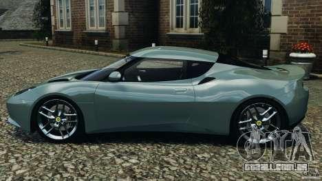 Lotus Evora 2009 v1.0 para GTA 4 esquerda vista