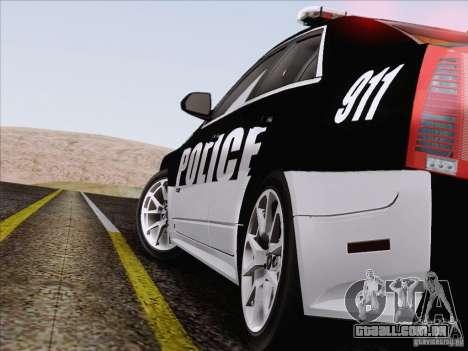 Cadillac CTS-V Police Car para GTA San Andreas vista superior