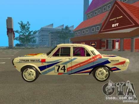 Volga GAZ 24-10 Rally para GTA San Andreas esquerda vista