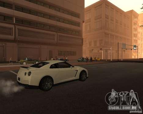 Nissan GT-R Pronto para GTA San Andreas traseira esquerda vista