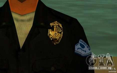 HQ skin lapd1 para GTA San Andreas por diante tela