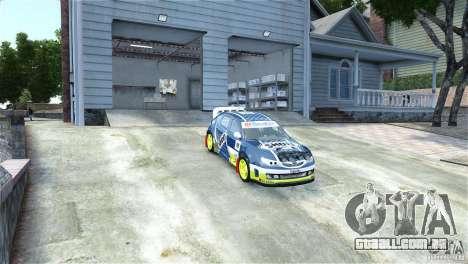 Subaru Impreza WRX STI Rallycross SHOEL Vinyl para GTA 4 vista direita